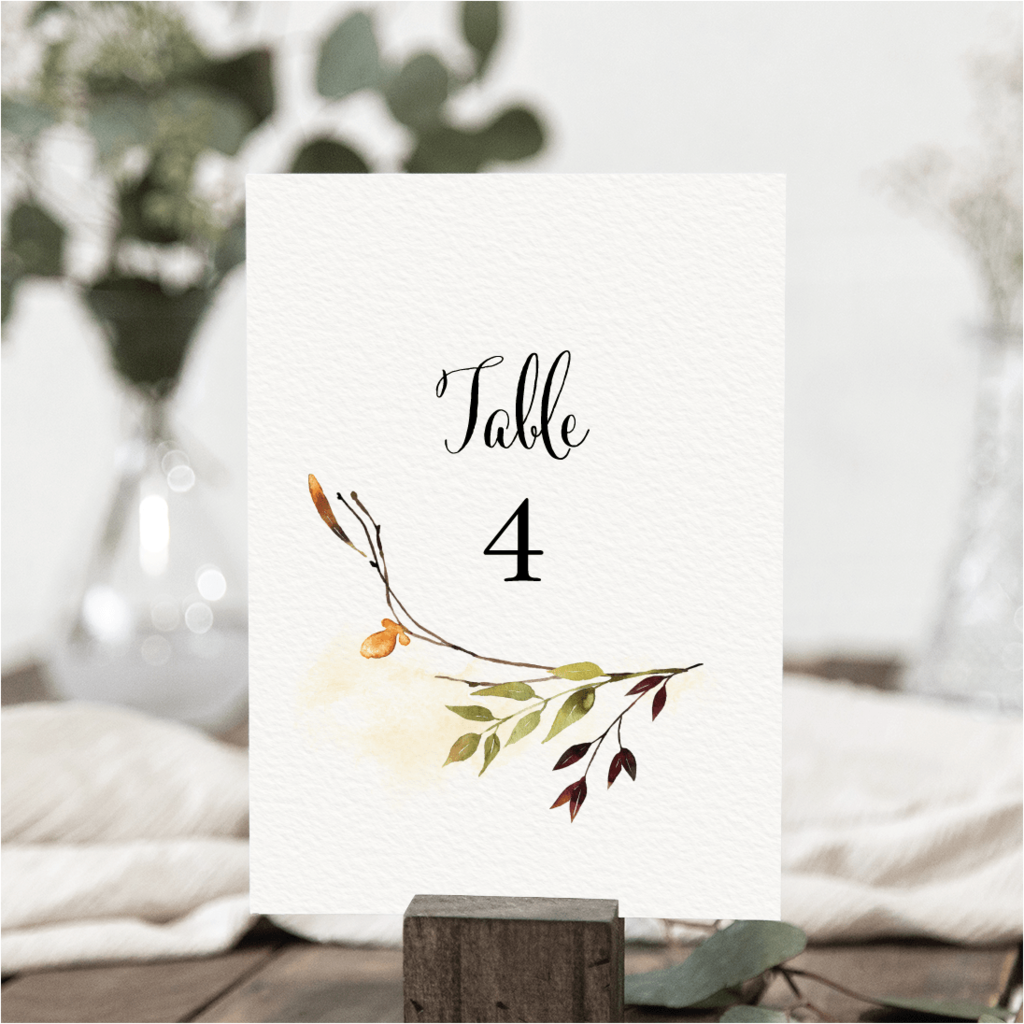 Fall Wreath Table Numbers NIVI Design