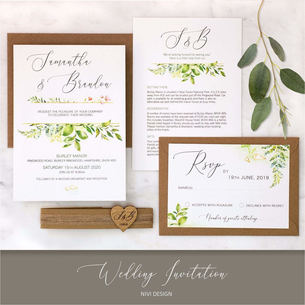 Foliage Wedding Invitation NIVI Design