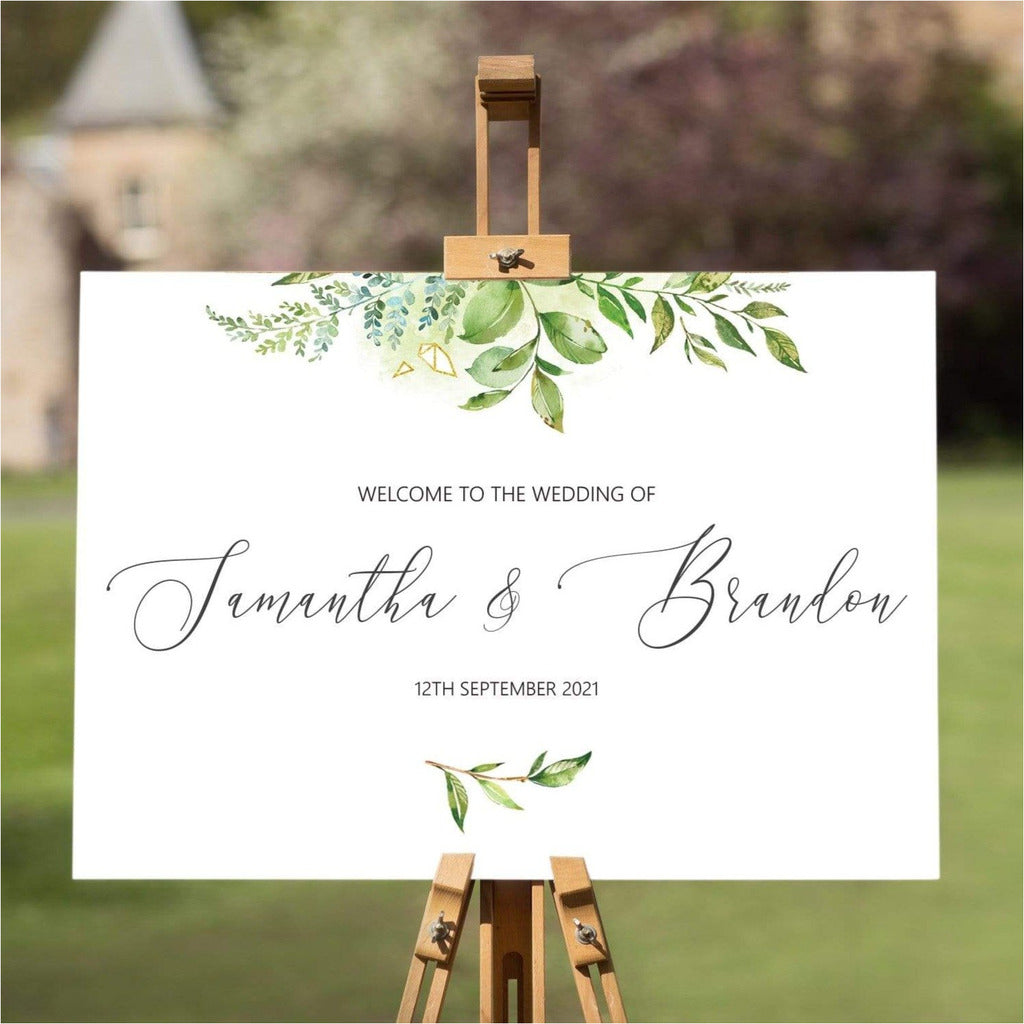 Foliage Wedding Welcome Sign NIVI Design