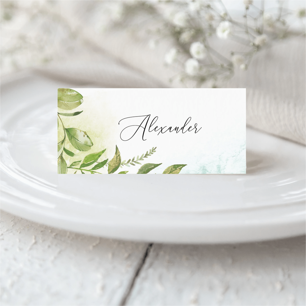 Greenery Place Card NIVI Design