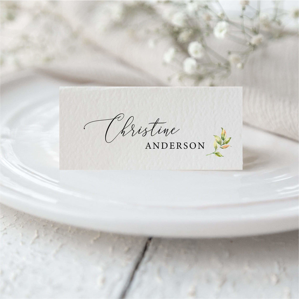 Leaf Place Card NIVI Design
