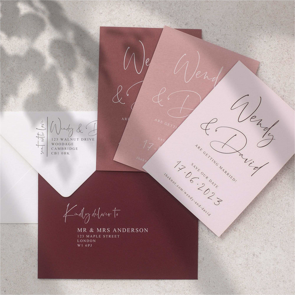 Love Letter Save The Date Cards NIVI Design