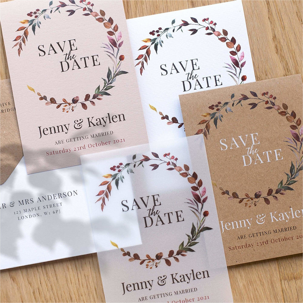 Save the date card Four Seasons NIVI Design