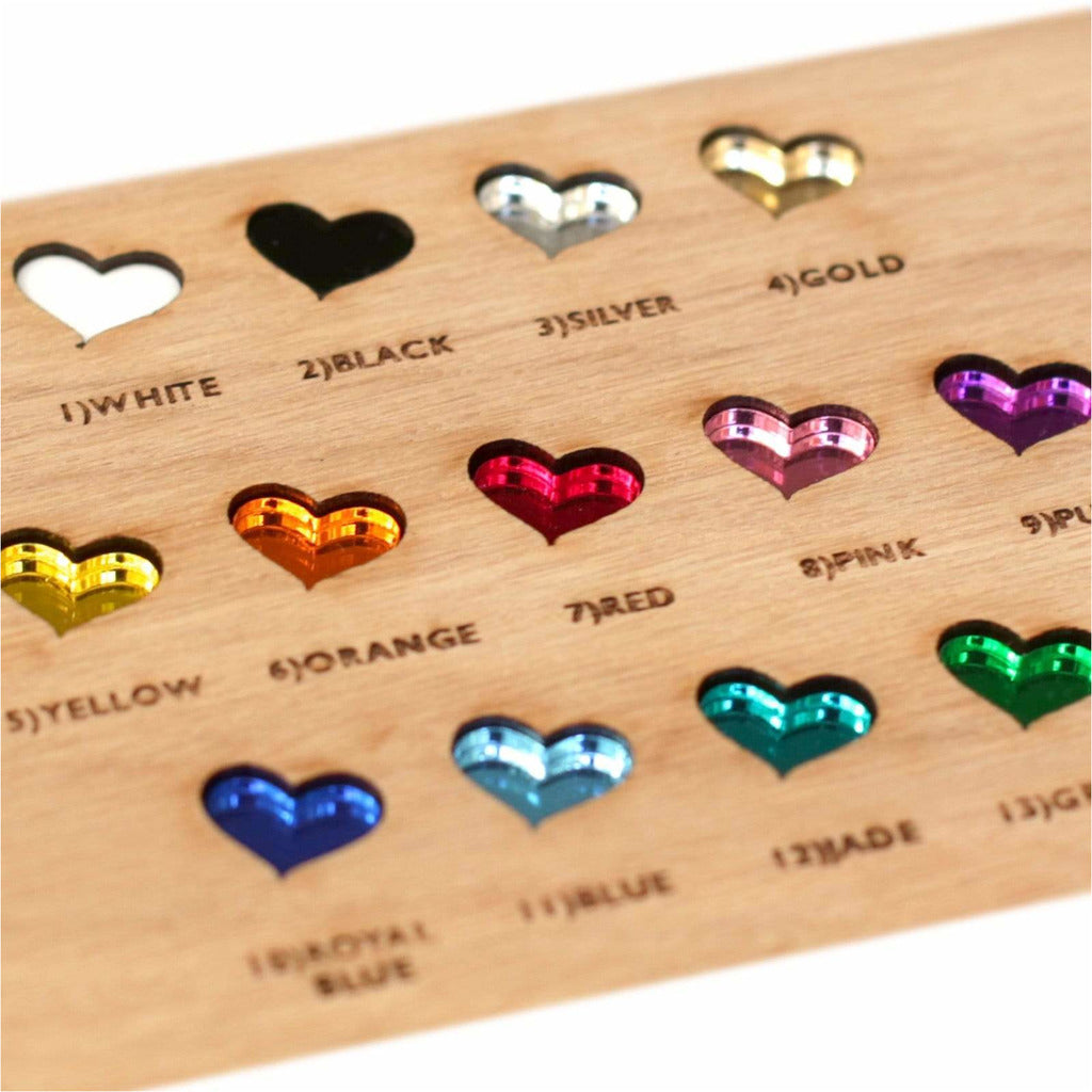 Thank You Wedding Magnets Coloured Hearts NIVI Design