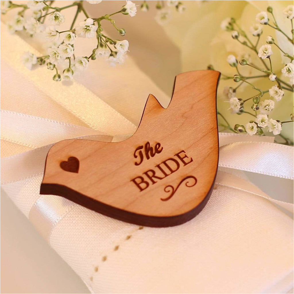 Wedding Table Decorations Personalised Name Place Setting Wooden Love Doves NiVi Design
