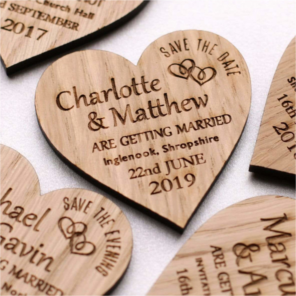 Wooden Save The Date Magnets NiVi Design