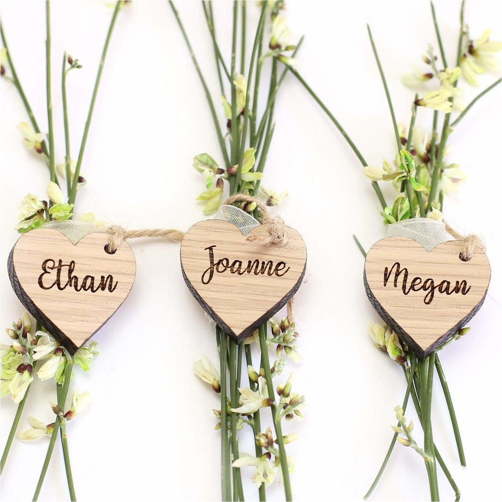 Wooden wedding favour tags NIVI Design
