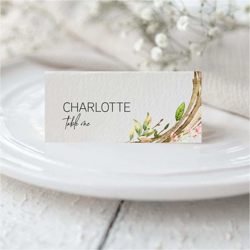 Wreath Place Card NIVI Design