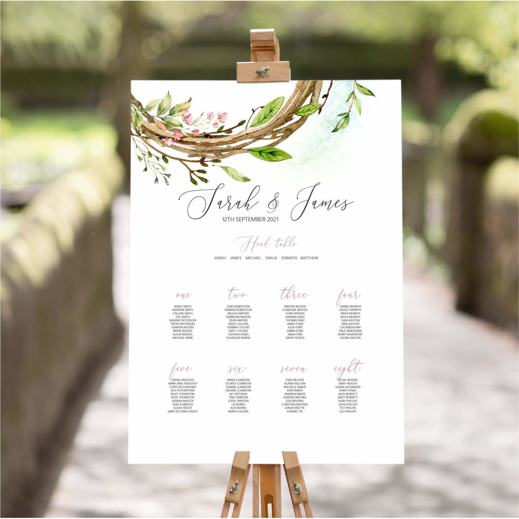 Wreath Wedding Table Plan NIVI Design