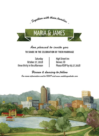 Wedding Invitation: A View of City Park by VEC