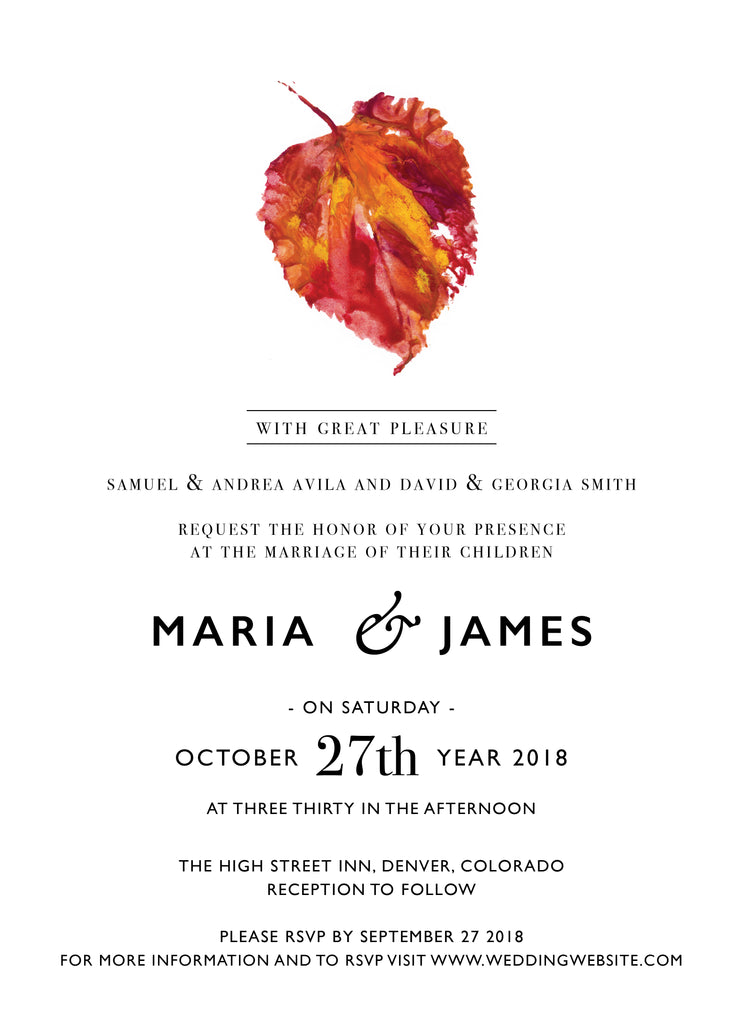 Wedding Invitation: Aspen by CFF
