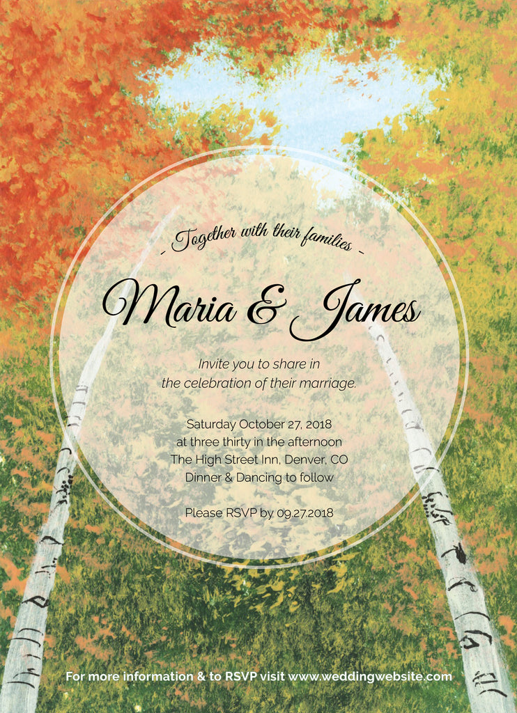 Wedding Invitation: Aspen Sky View by WA