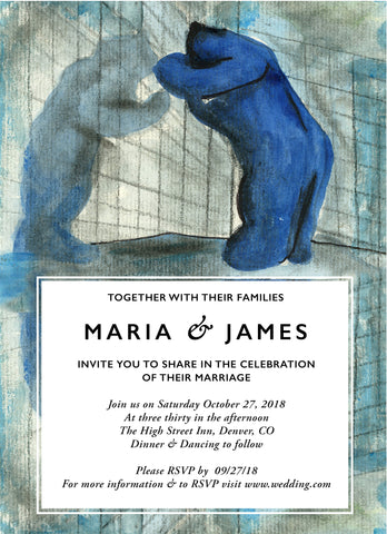 Wedding Invitation: Blue Two by SAM