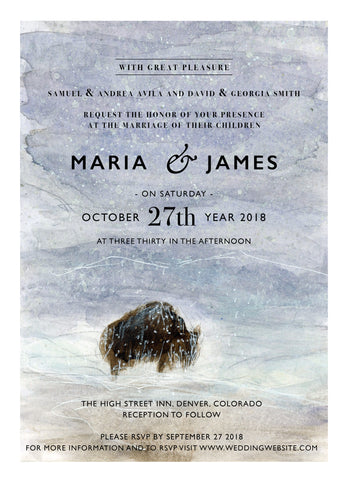 Wedding Invitation: Buffalo by CLM
