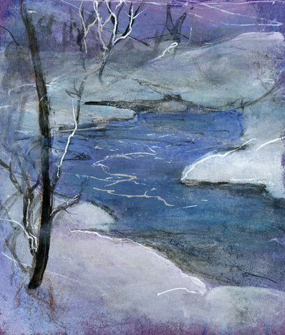 Fine Art Print: Winter Stream by CLM