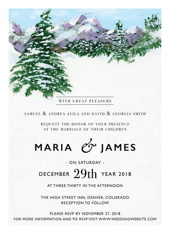 Wedding Invitation: Colorado Dreaming by WA