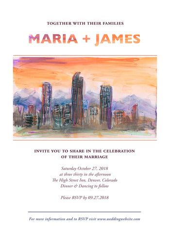 Wedding Invitation: Denver Dawn by CLM