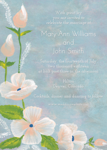 Wedding Invitation: Wedding in Blue by SS