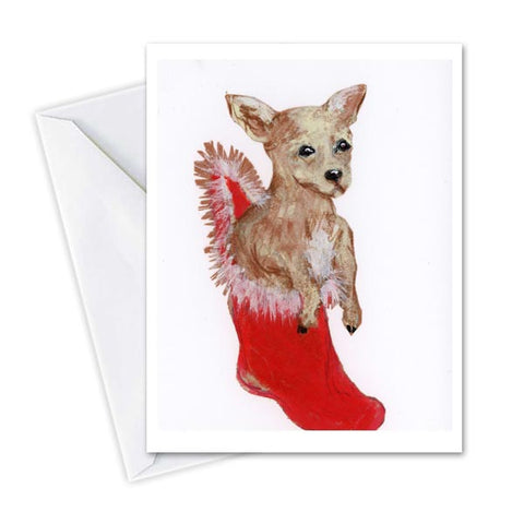 Puppy in a Stocking by OUI