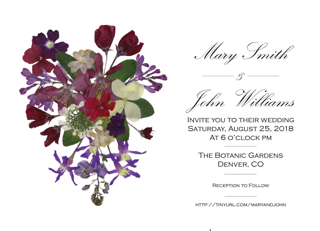 Wedding Invitation: Pressed Bouquet by SNA