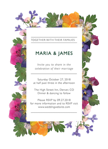 Wedding Invitation: Pressed Flowers 2 by SNA