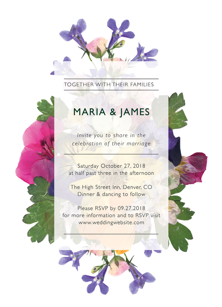 Wedding Invitation: Pressed Flowers 1 by SNA