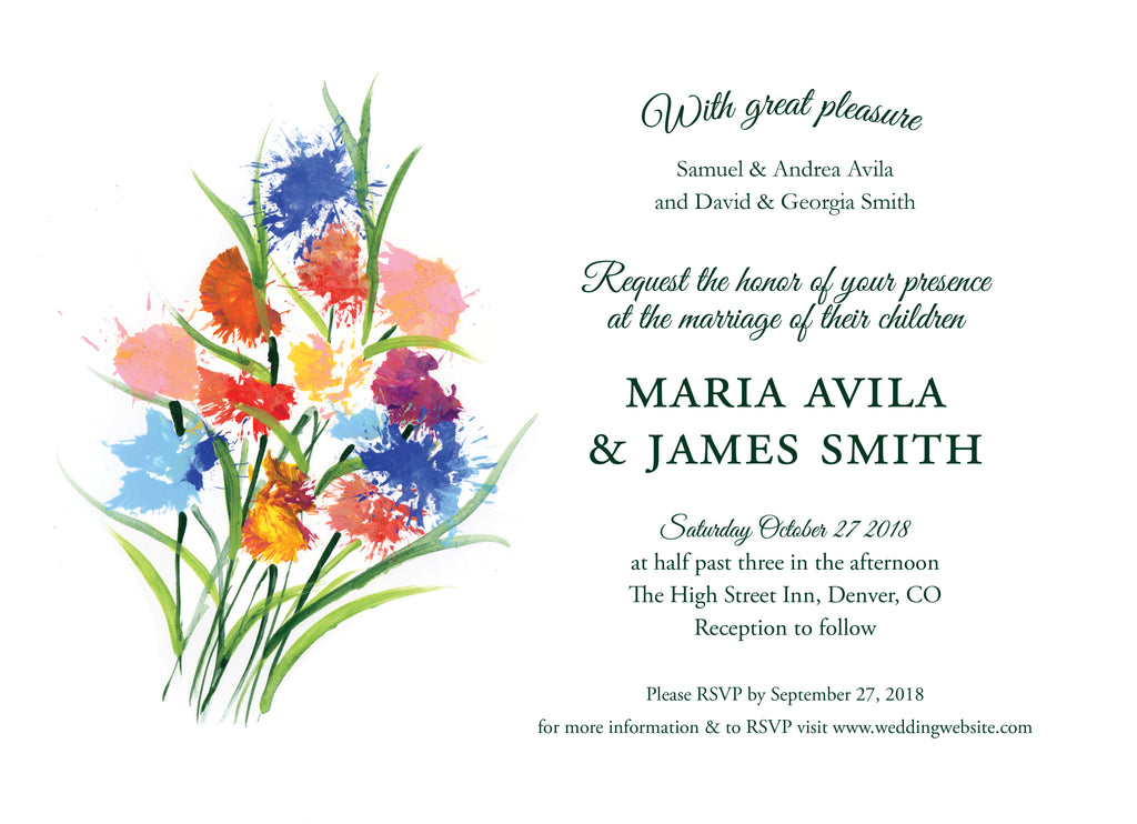 Wedding Invitation: Spring Bouquet 1 by CFF