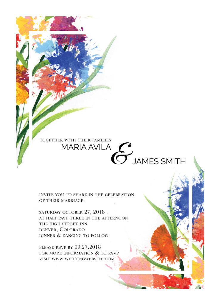 Wedding Invitation: Spring Bouquet 2 by CFF