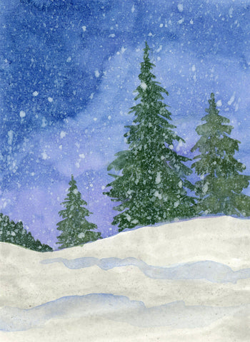 Fine Art Print: Snow Storm by VEC