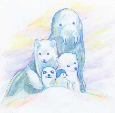Snowy Winter Animals by LDT