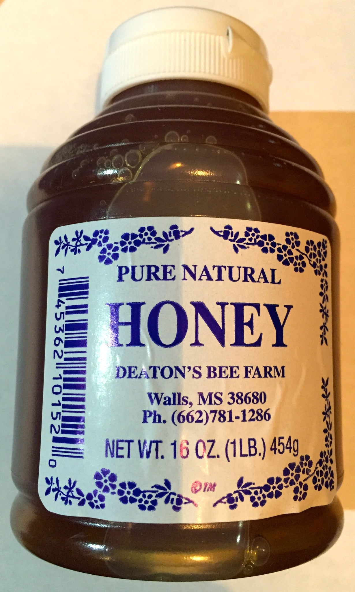 Deaton's Pure Natural Honey 16oz