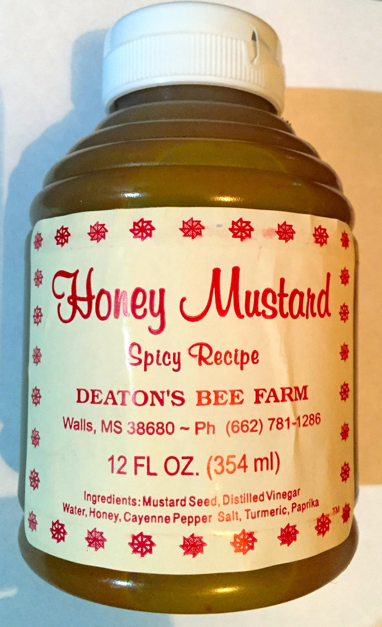 Deaton's Pure Natural Spicy Honey Mustard 12oz