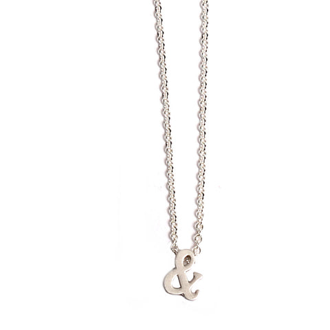 Ampersand silver necklace