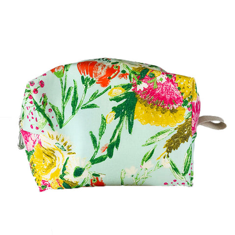 Medium Dopp Bag Blue Mint Florals