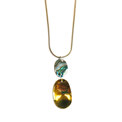 Abalone Oval Drop Necklace