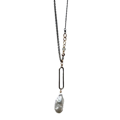Elsie Pearl/Labradorite Necklace