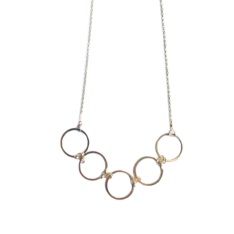 Linked Circles Gold Fill Necklace