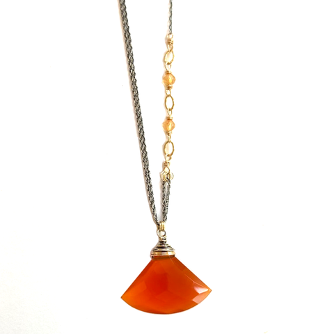 Cara Carnelian & Citrine Necklace
