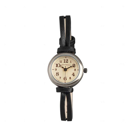 Eva Leather Watch: Black