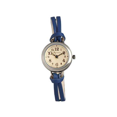 Eva Leather Watch: Blue
