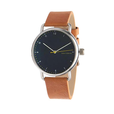 Hudson Leather Watch: Tan