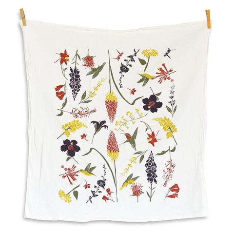 Hummingbird Garden Tea Towel