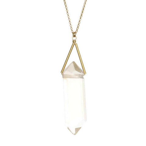Lago Gold Necklace Quartz Crystal