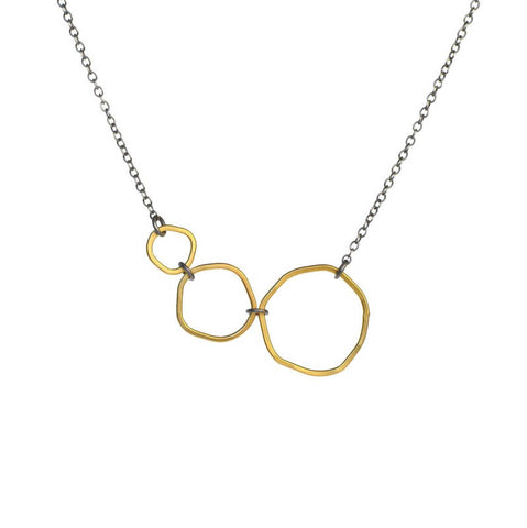 Marcia necklace gold & sterling silver