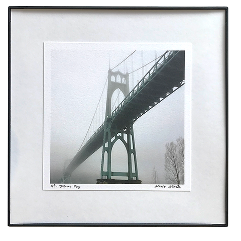 "8x8"" St Johns Bridge in Fog"
