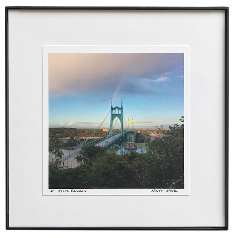 "8x8"" St Johns Bridge with Rainbow"