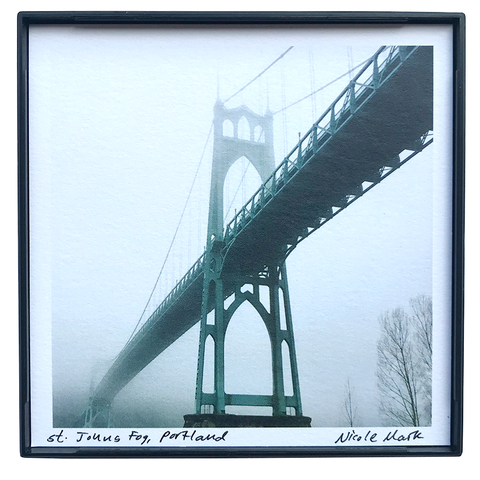 "4x4"" St. Johns Bridge in Fog"