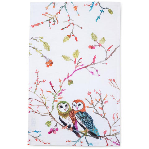 Tea Towel: Barn Owls