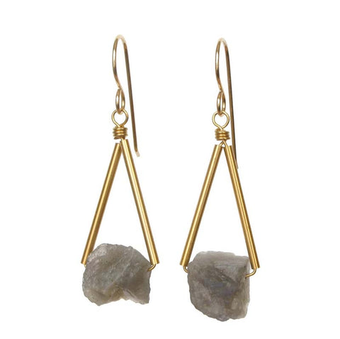 Pavi earrings Labradorite