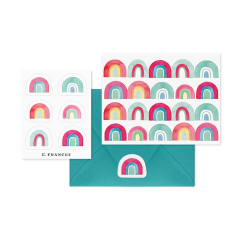 Rainbow Quartet Notecards & Stickers